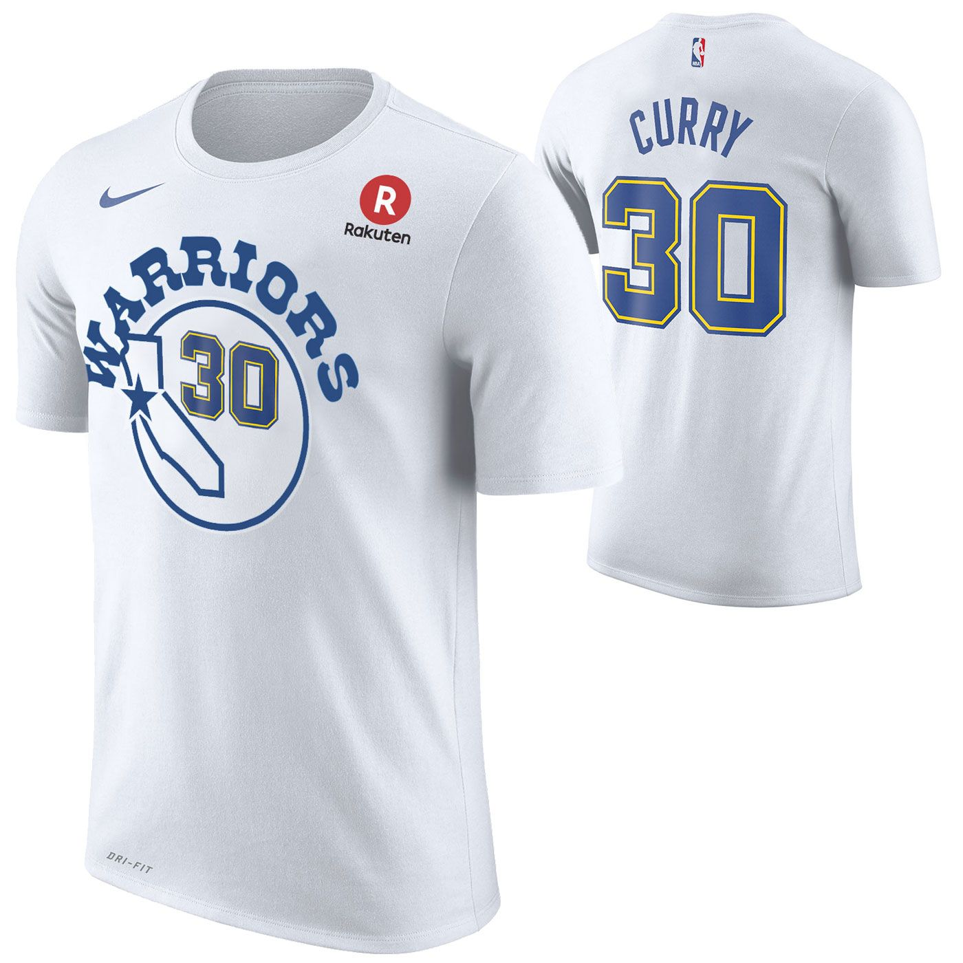 cc4d4cbbe Golden State Warriors Nike Dri-FIT Men s Hardwood Classic Stephen Curry  30  Game Time Name   Number Tee - White