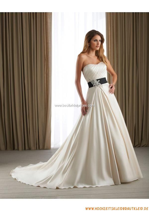 2013 Billiges Brautkleid aus Satin A-Linie online kaufen | summer ...