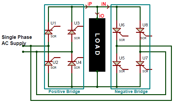 Cycloconverters Types Working And Applications Circuit Circuit Diagram Electronics Circuit