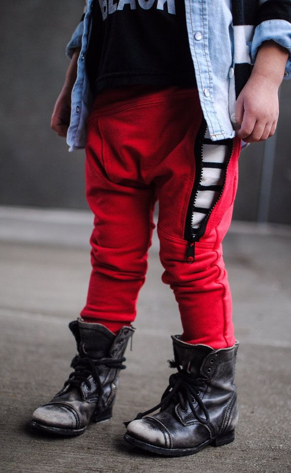 Hipster baby boy clothes / Trendy toddler boy leggings red / | Nähen ...