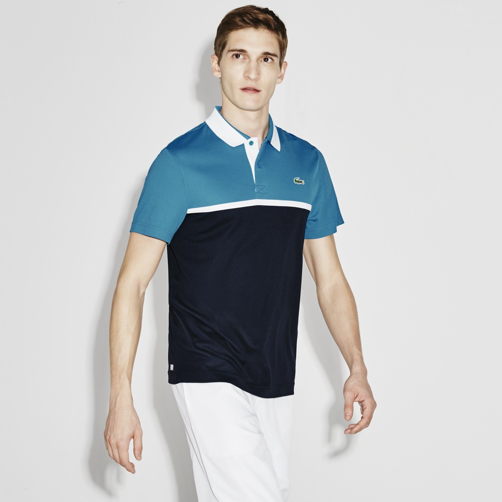 5dd8502d3 LACOSTE Men s SPORT Ultra Dry Resistant Piqué Tennis Polo Shirt -  oceanie navy blue-white.  lacoste  cloth