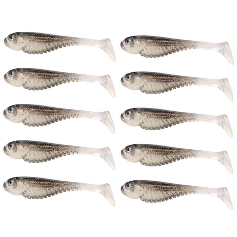 10 Pcs Soft Silicone Tiddler Bait Fluke Fishing Saltwater Fish Lure Bass Tool Affiliate Fish Saltwater Fishing Bait