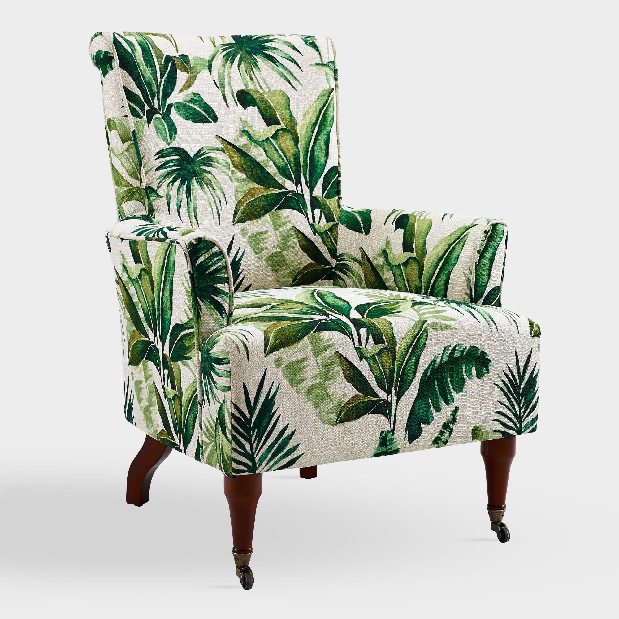 Palm leaf clares upholstered armchair by world market in