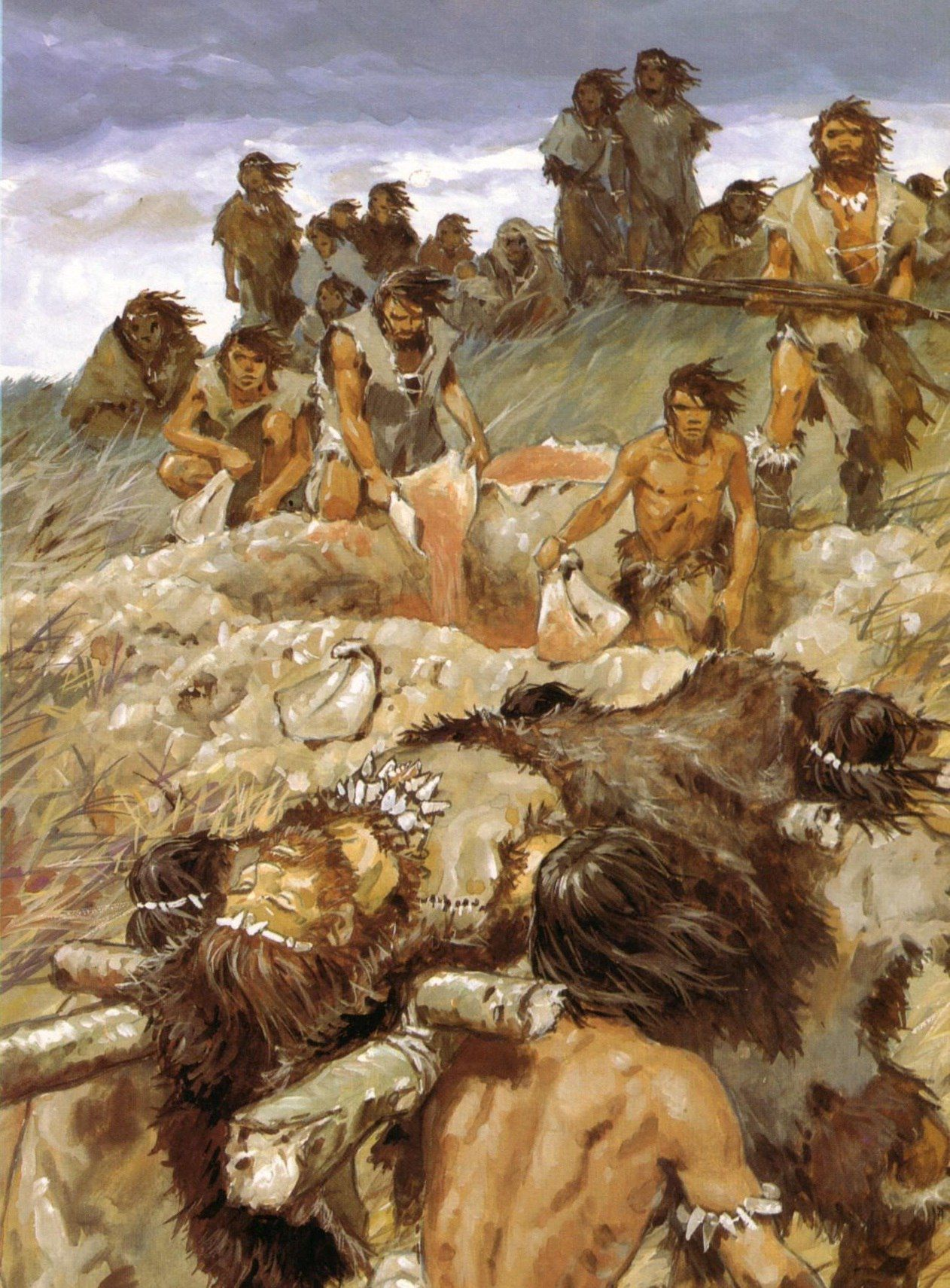 Paleolithic burial by Pierre Joubert | Stone Age ...  Paleolithic bur...