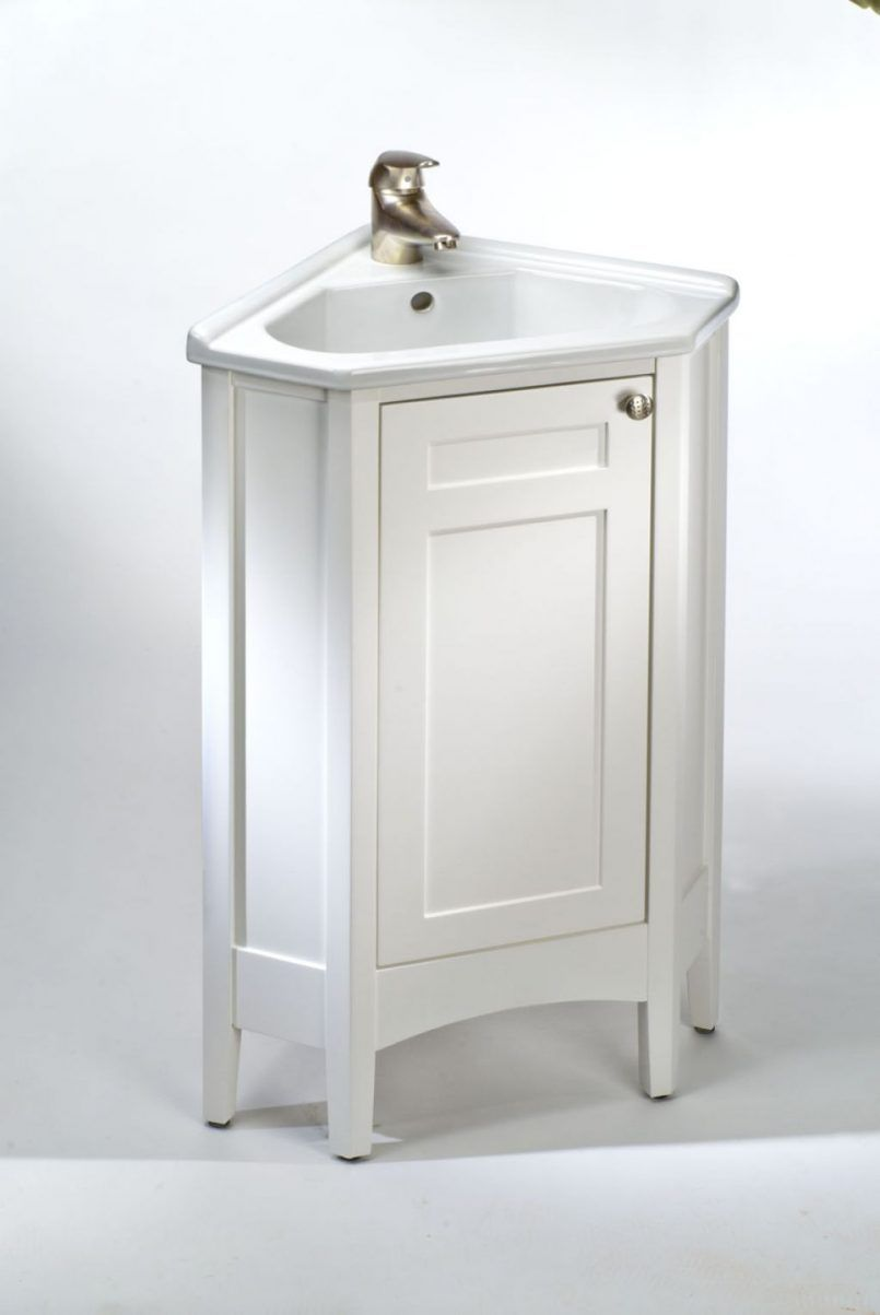 Bathroom Corner Bathroom Cabinet With The Natural Design Of The Sink ...