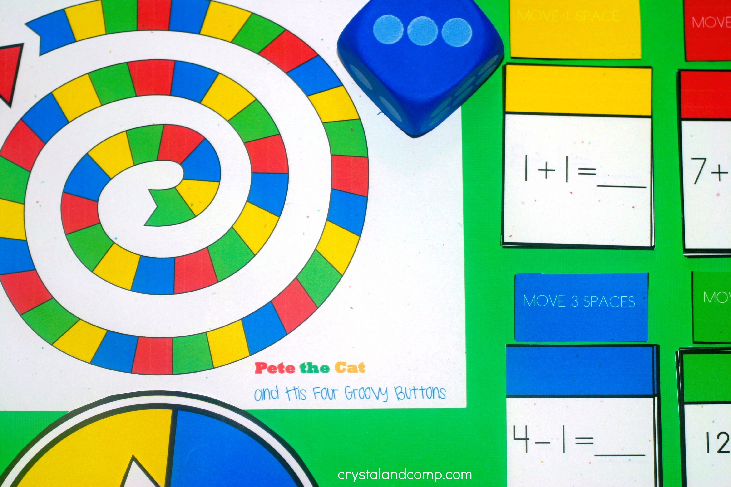Free Printable Math Game Pete The Cat Inspired