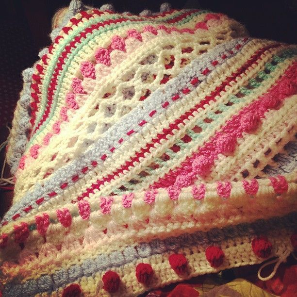 cottage stripe afghan with different stitches - Google Search ...