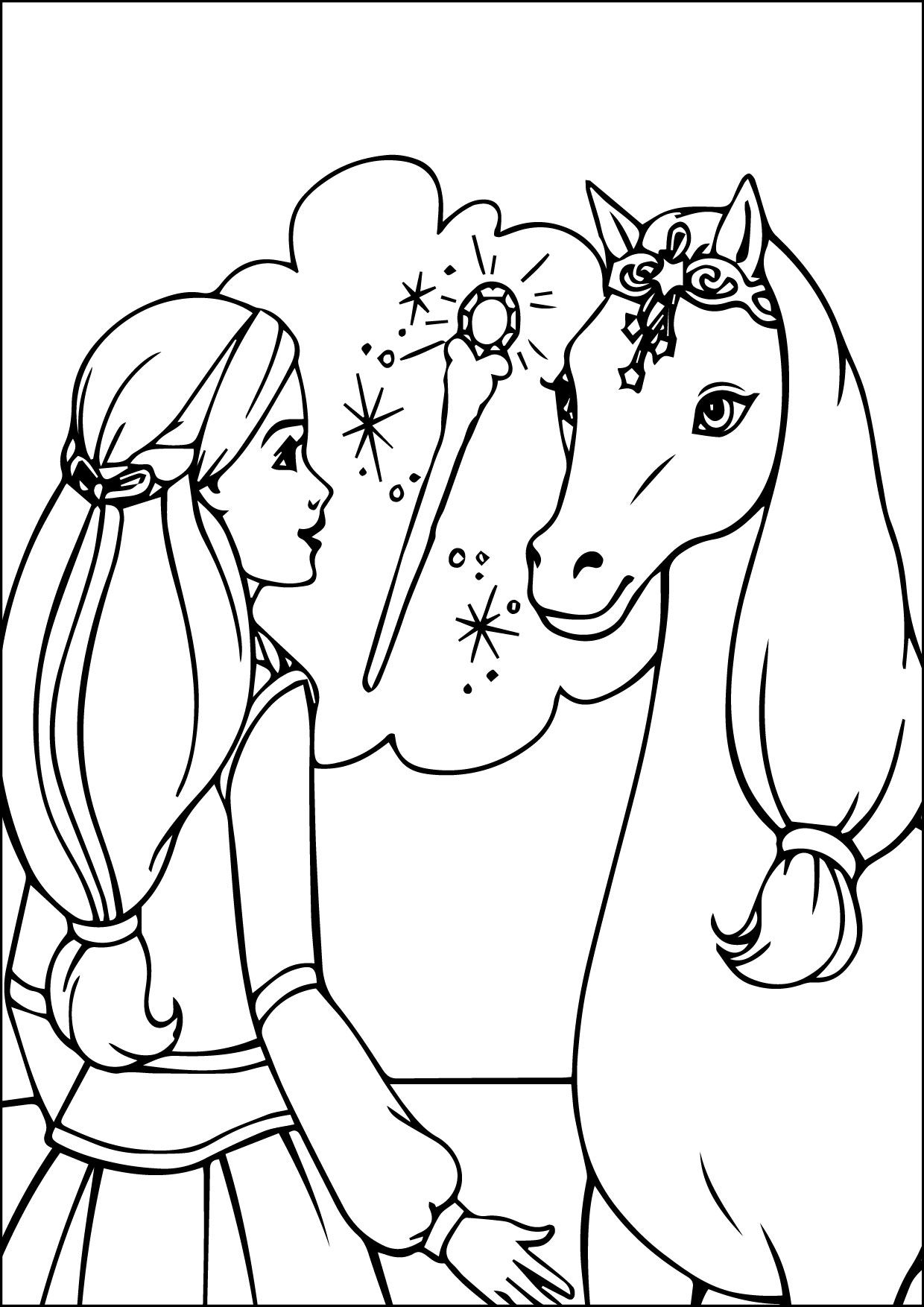 Cool Barbie Coloring Pages 07 09 2015 034058 Check More At Http Www Mcoloring Com Index Php 2015 Unicorn Coloring Pages Barbie Coloring Pages Barbie Coloring