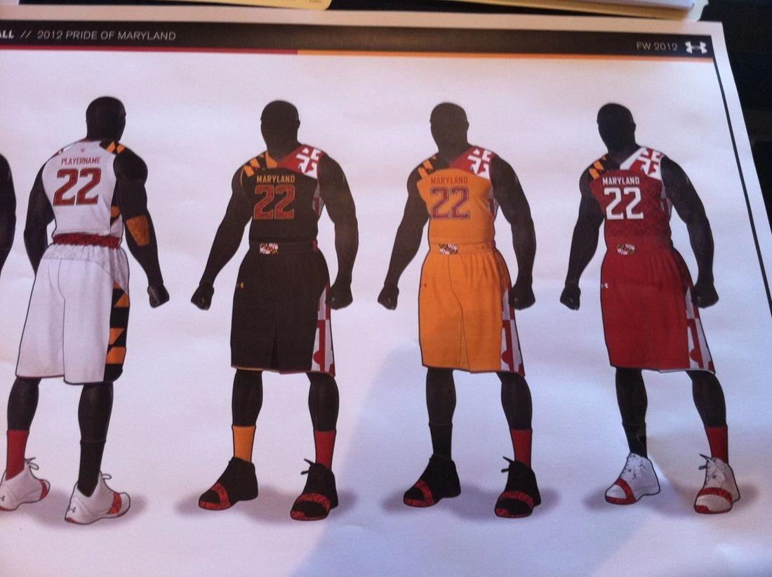 on sale 5c6e3 744c7 Maryland New Basketball Uniforms - Not sure if I like ...