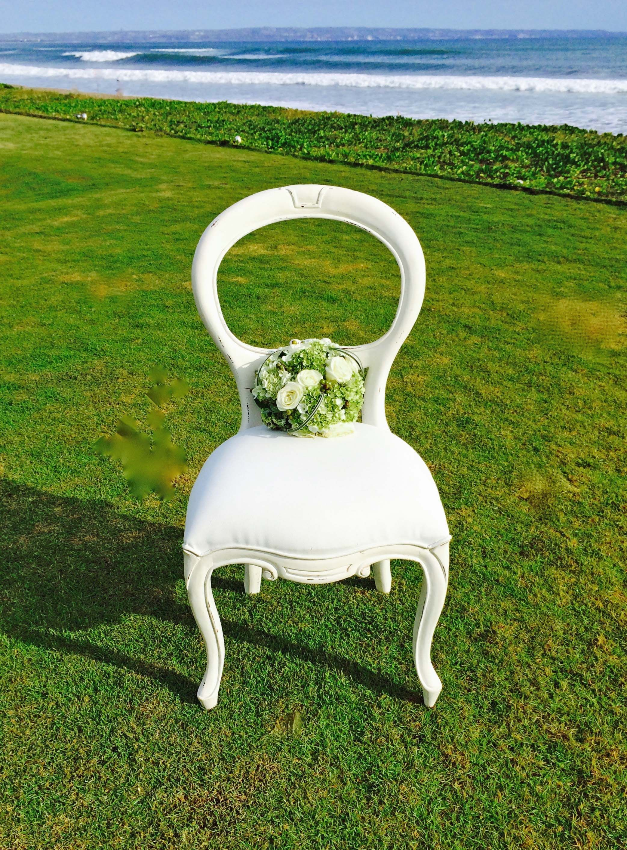 Vintage Romantic Chair Antiqued White Bali Ultimate