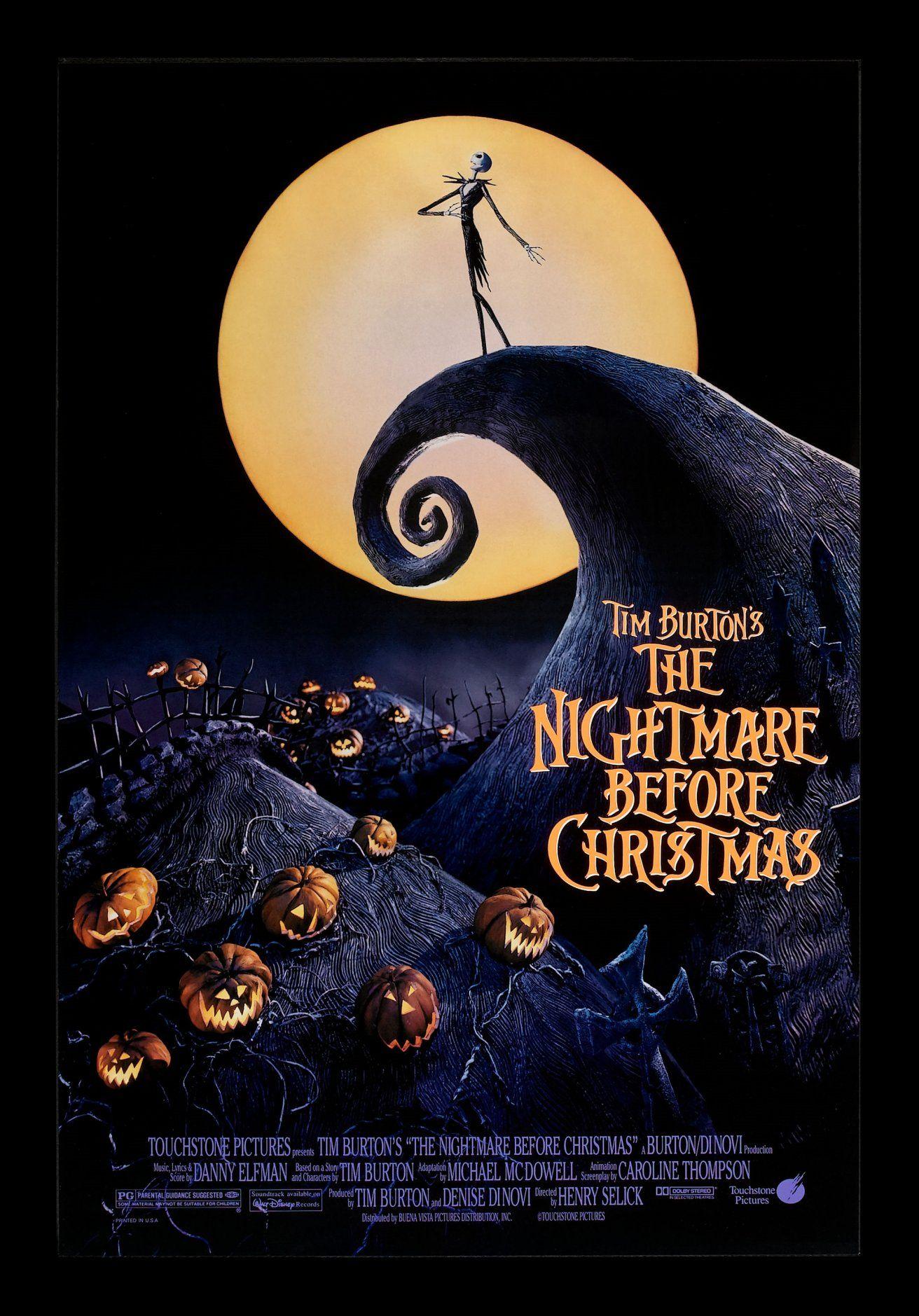 Original The Nightmare Before Christmas Film Poster O Pesadelo Antes Do Natal Melhores Filmes Em Cartaz Filmes Do Dia Das Bruxas