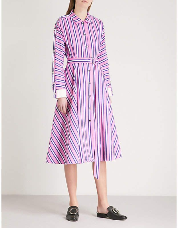 a70d22ff54 MAJE Renali belted striped cotton shirt dress | Products | Cotton ...