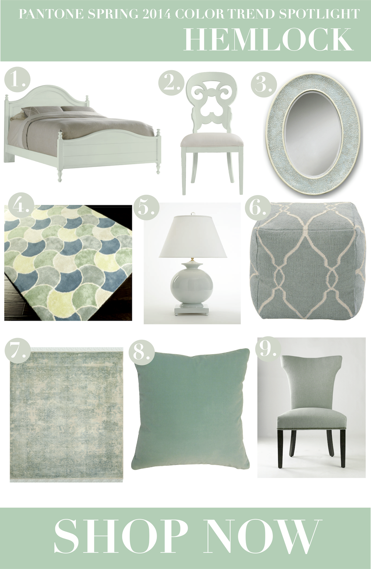 spring 2014 home decor color trend hemlockwhen it comes to home