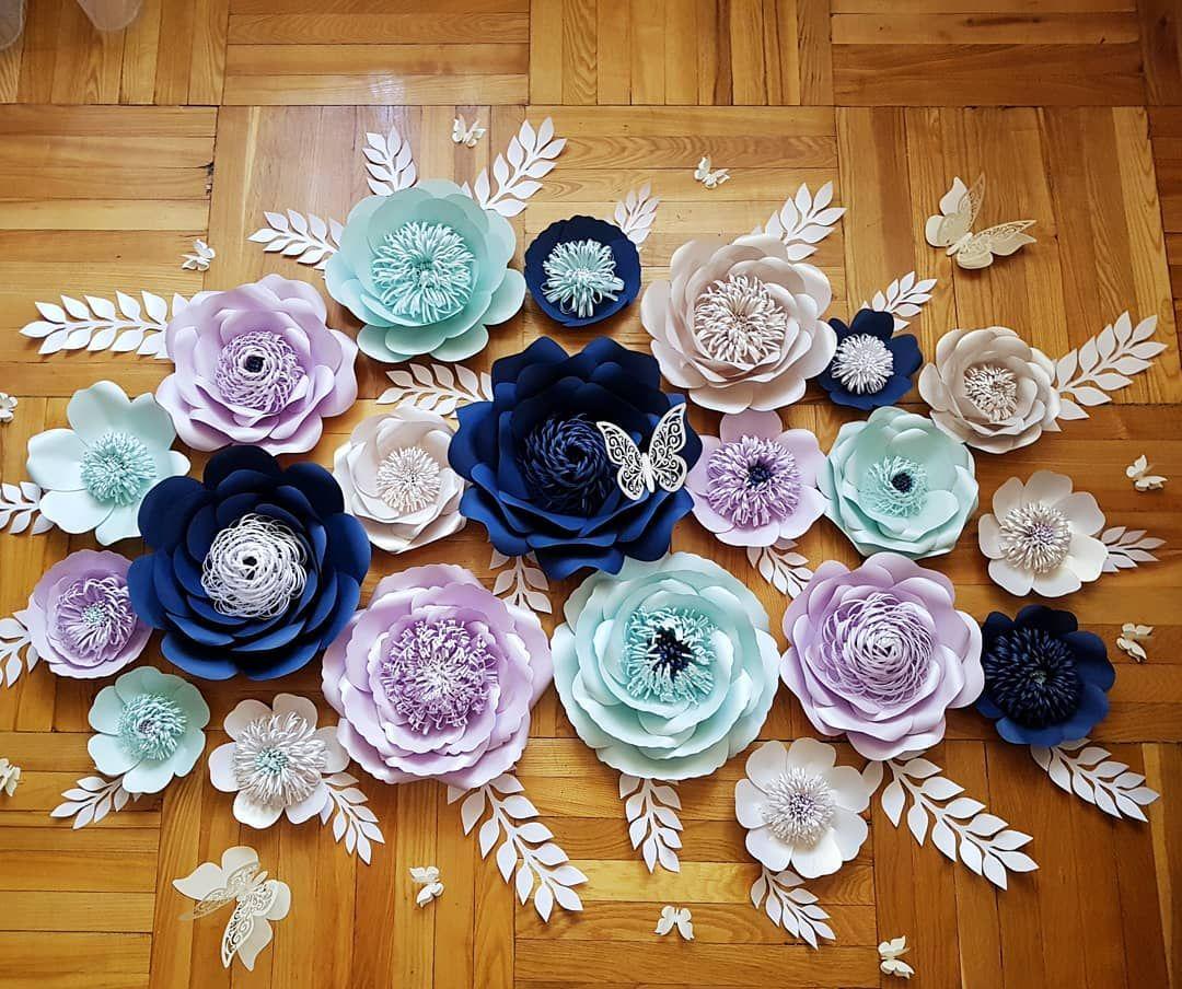 Цветочный сэт на стену из 20 цветов с красивыми ...