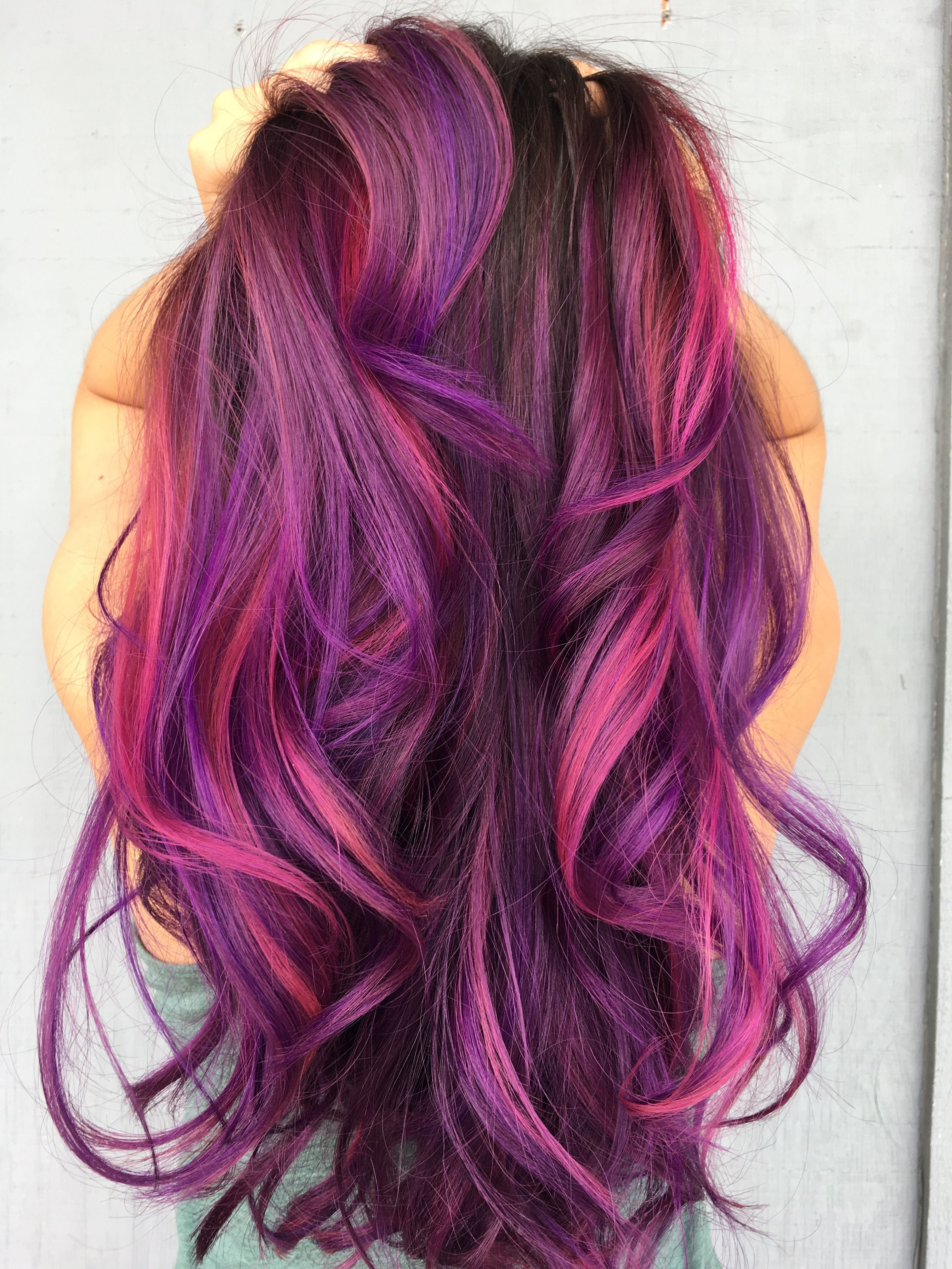 Purple pink creation looks slot like my current hair color hair