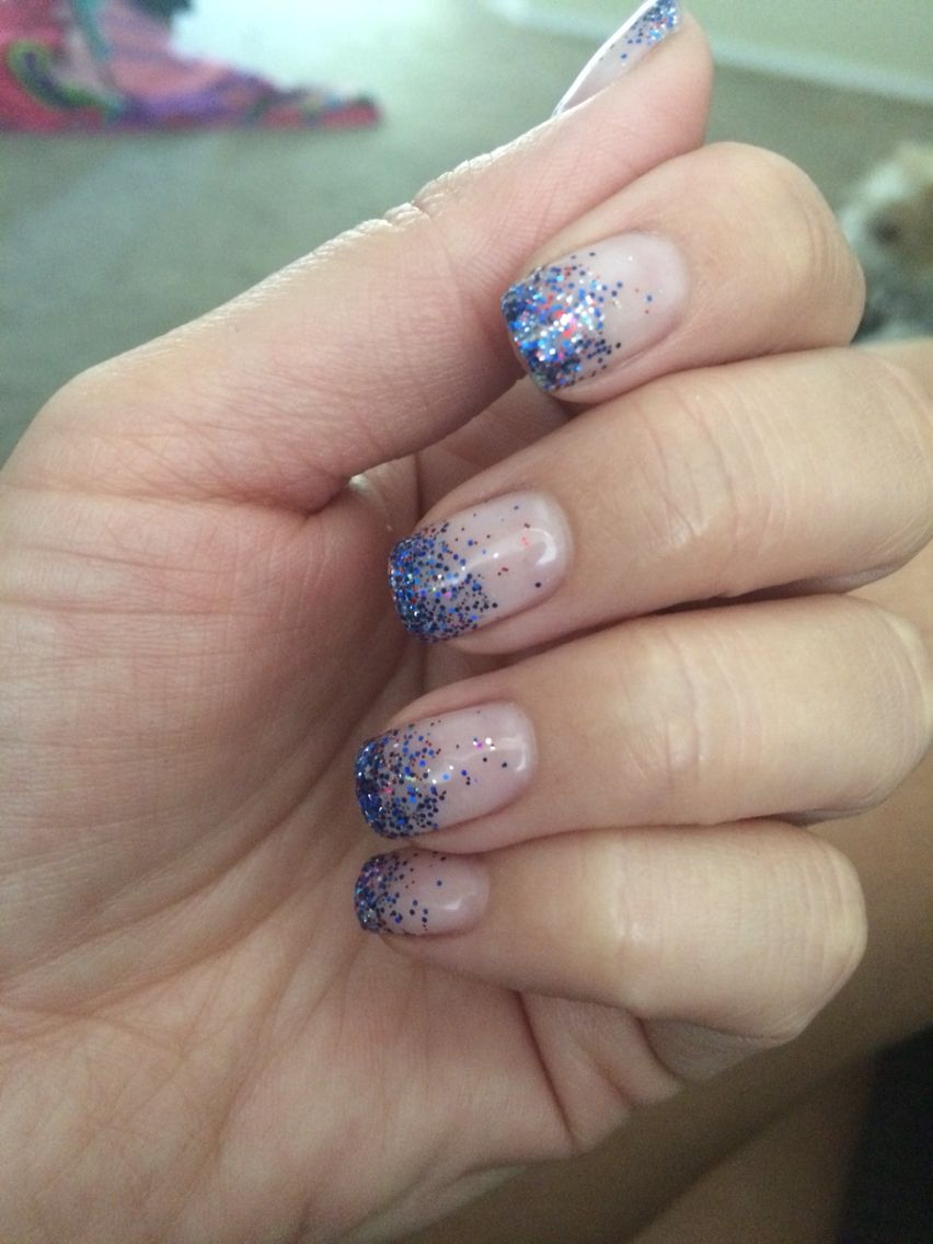 Red, white, and blue nails! Great for any time of the year! :)