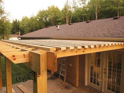 image result for pergola building how to fasten top rafters | jug