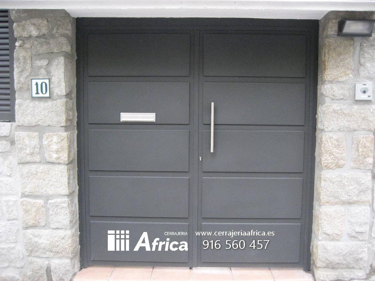 Puertas chapas galvanizadas casa de campo puertas de - Puertas metalicas jardin ...