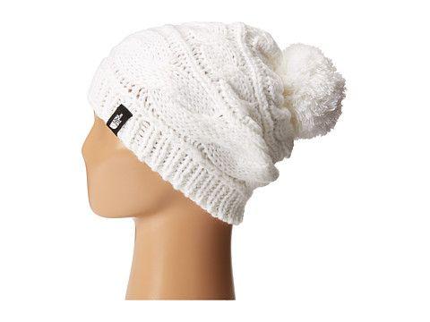 online retailer 6d7fc b3501 North Face White Slough Pom Pom Beanie