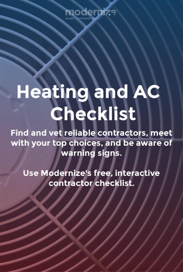 Hiring A Hvac Contractor Contractor Checklist Hvac Repair