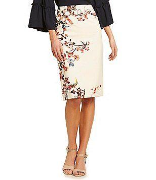 f585e75662 Antonio Melani Cedric Floral Print Pencil Skirt   favorite fashion ...