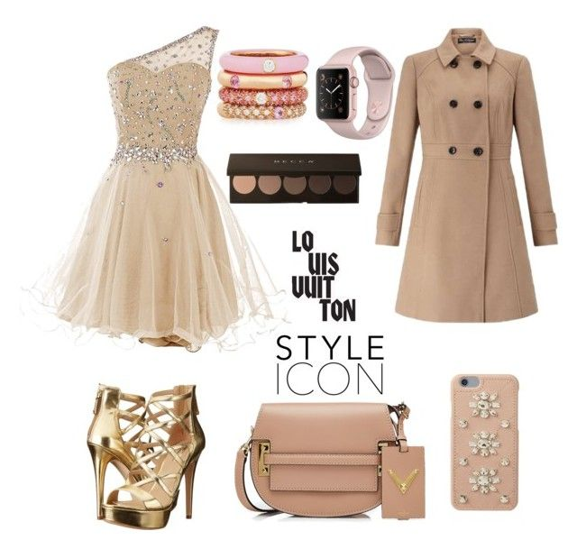 """""""Beige"""" by andulik111 ❤ liked on Polyvore featuring Miss Selfridge, GUESS, Valentino, Adolfo Courrier, Louis Vuitton and MICHAEL Michael Kors"""