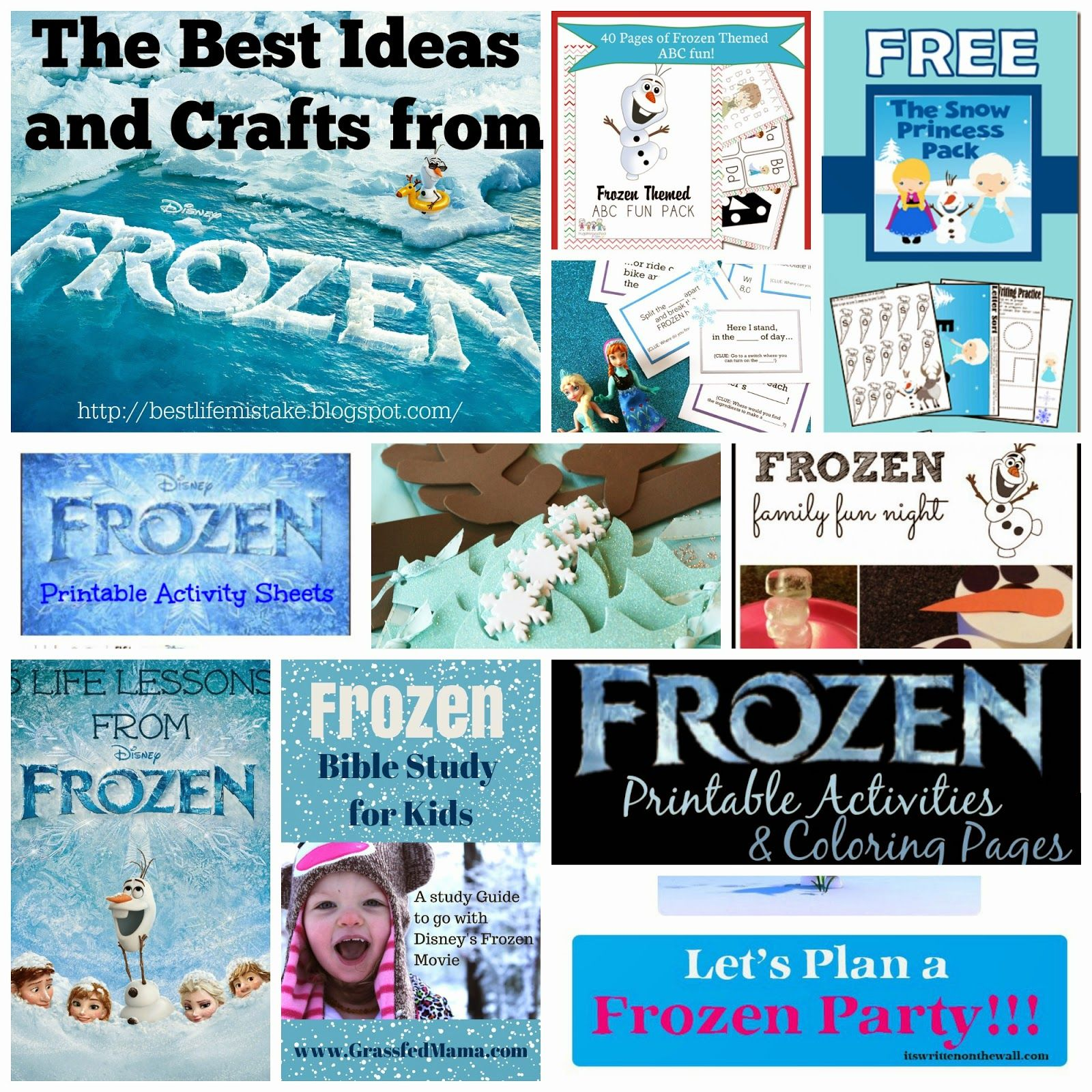 frozen crafts & ideas - great list for parties, school projects and
