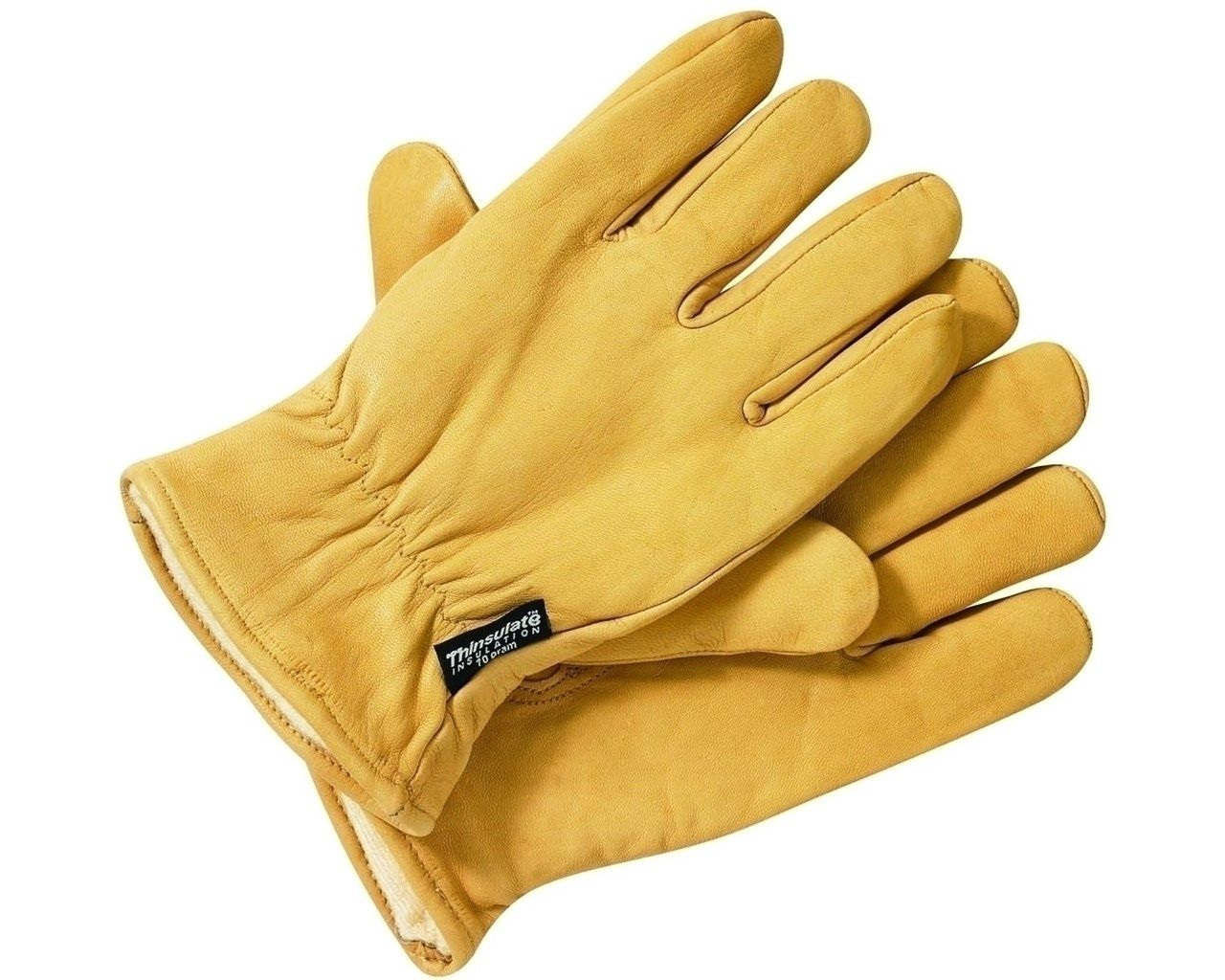 Dickies Lined Leather Work Gloves Tan Safety