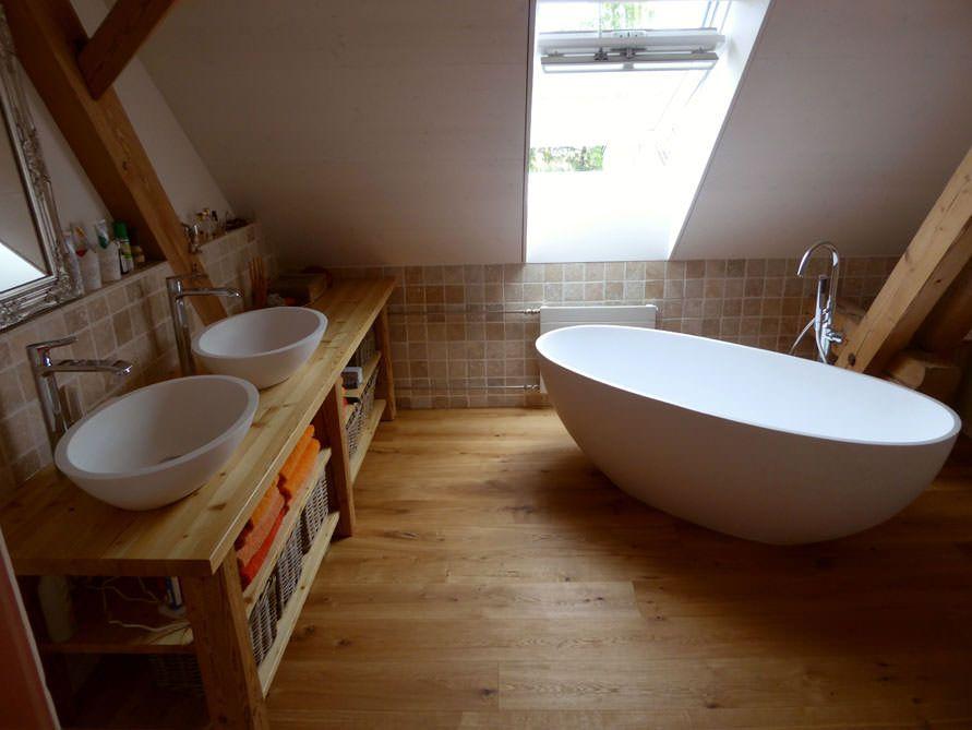 Freistehende Badewanne Piemont Medio aus Mineralguss - Weiss matt - freistehende badewanne