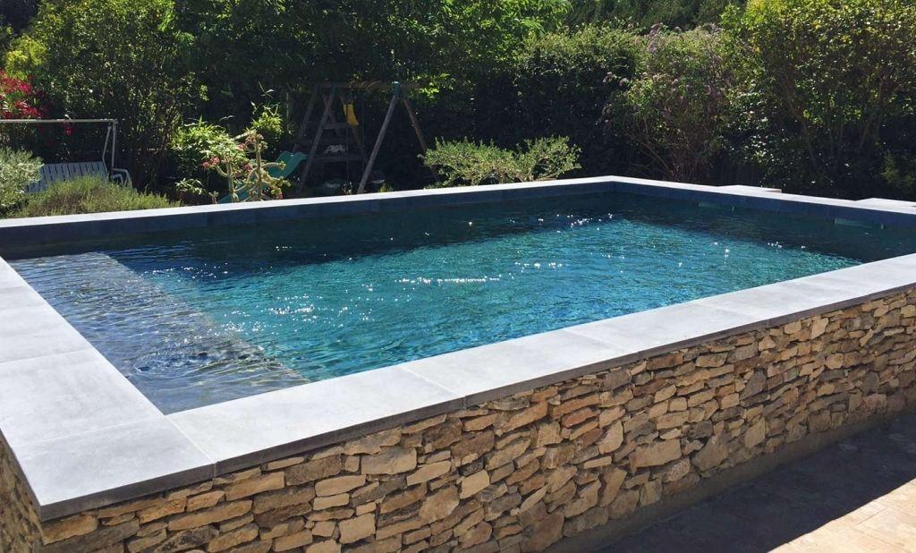 Margelle en l ou talon avec r serve pour led de roc de for Nouvelle piscine hors sol