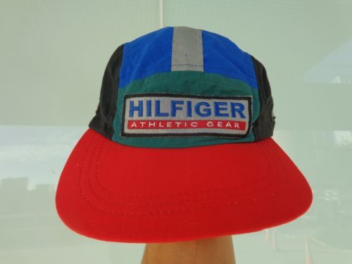 ad23c035256  100 Vintage-Tommy-Hilfiger-Sailing-Gear-5-Panel-Hat -90s-HIP-HOP-RAP-BICYCLE-HAT-CAP never been worn tag hanger . aka the lil  plastic tag holder is still ...