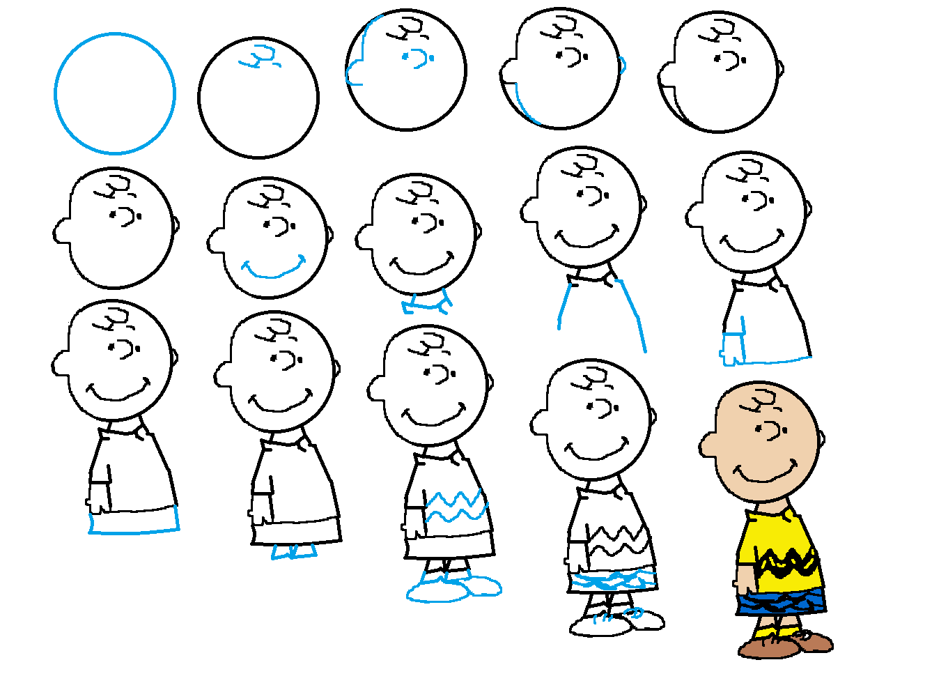 how to draw charlie brown   printables   Pinterest