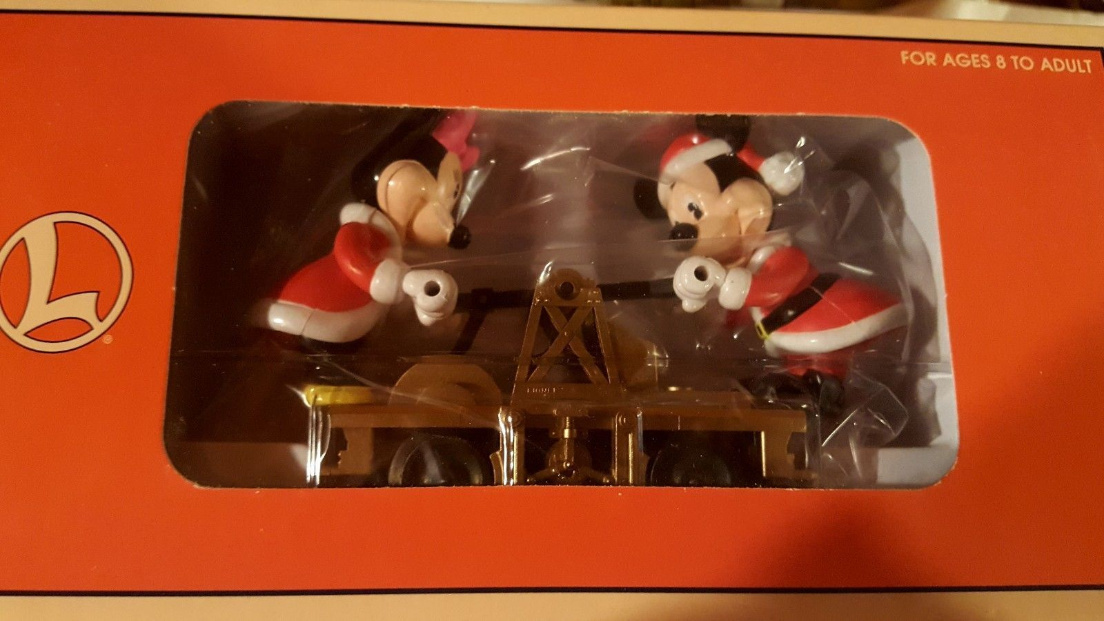 O) LIONEL Mickey & Minnie Mouse Hand Pumper Gandy Dancer Car