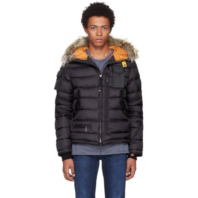 PARAJUMPERS Black Down Mountain Loft Ski Master Jacket. #parajumpers #cloth #