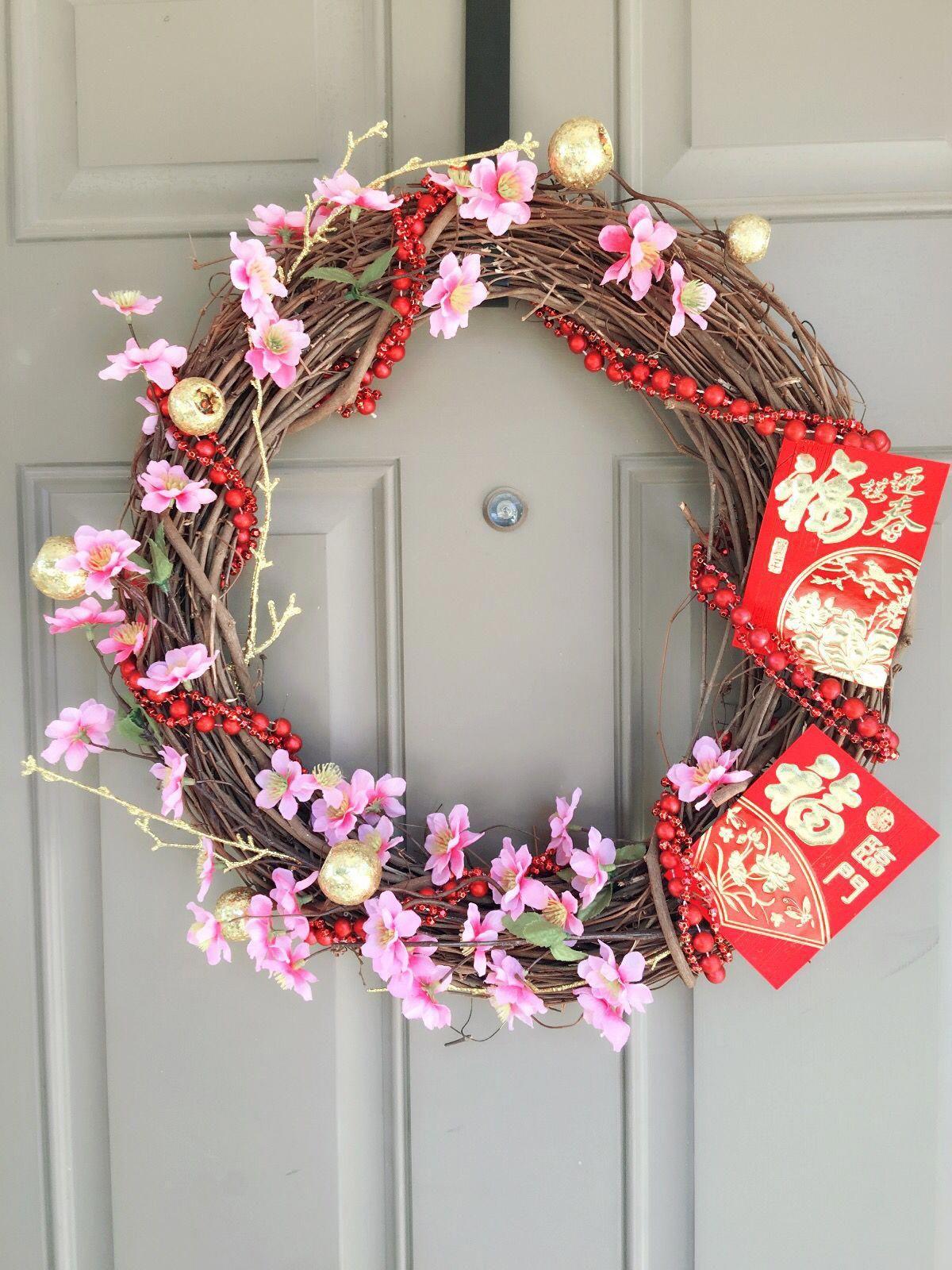 DIY lunar New Year wreath Tet Vietnamese New Year Chinese