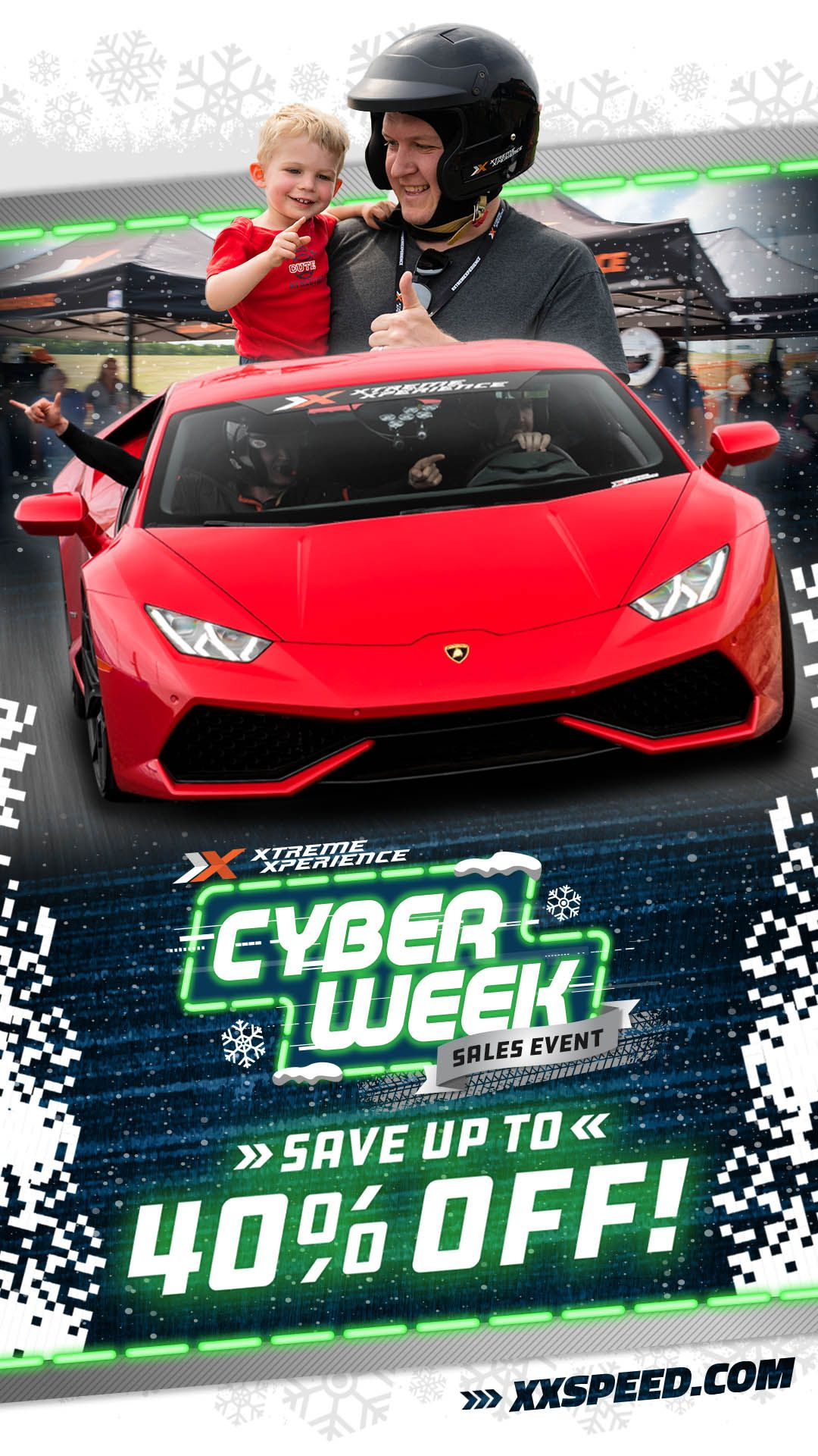 Holiday Sale Cyber Week Sale Super Cars Race Track