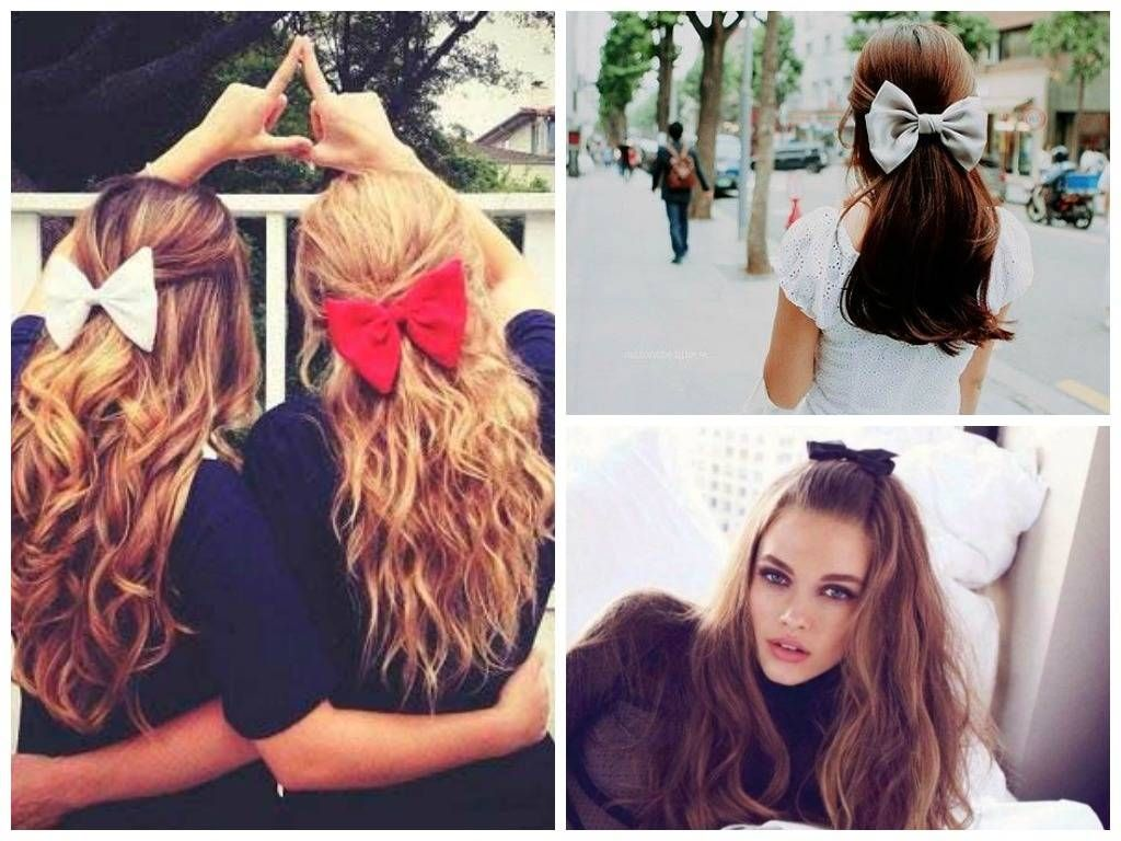 Top Cute Ways To Style Hair Down  Bow hairstyle, Model hairstyles