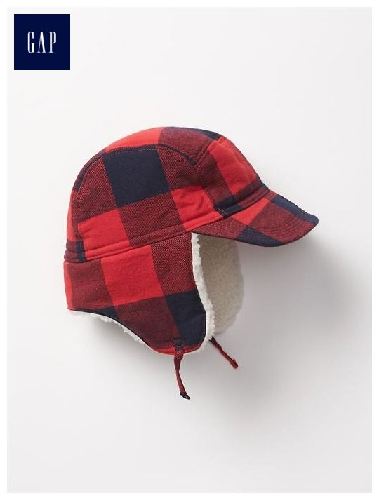 3bec644db48 Flannel plaid trapper hat