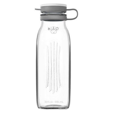 Ello Elsie Milk Jug 22oz Grey Glass Water Bottle Water Bottle Milk Jug