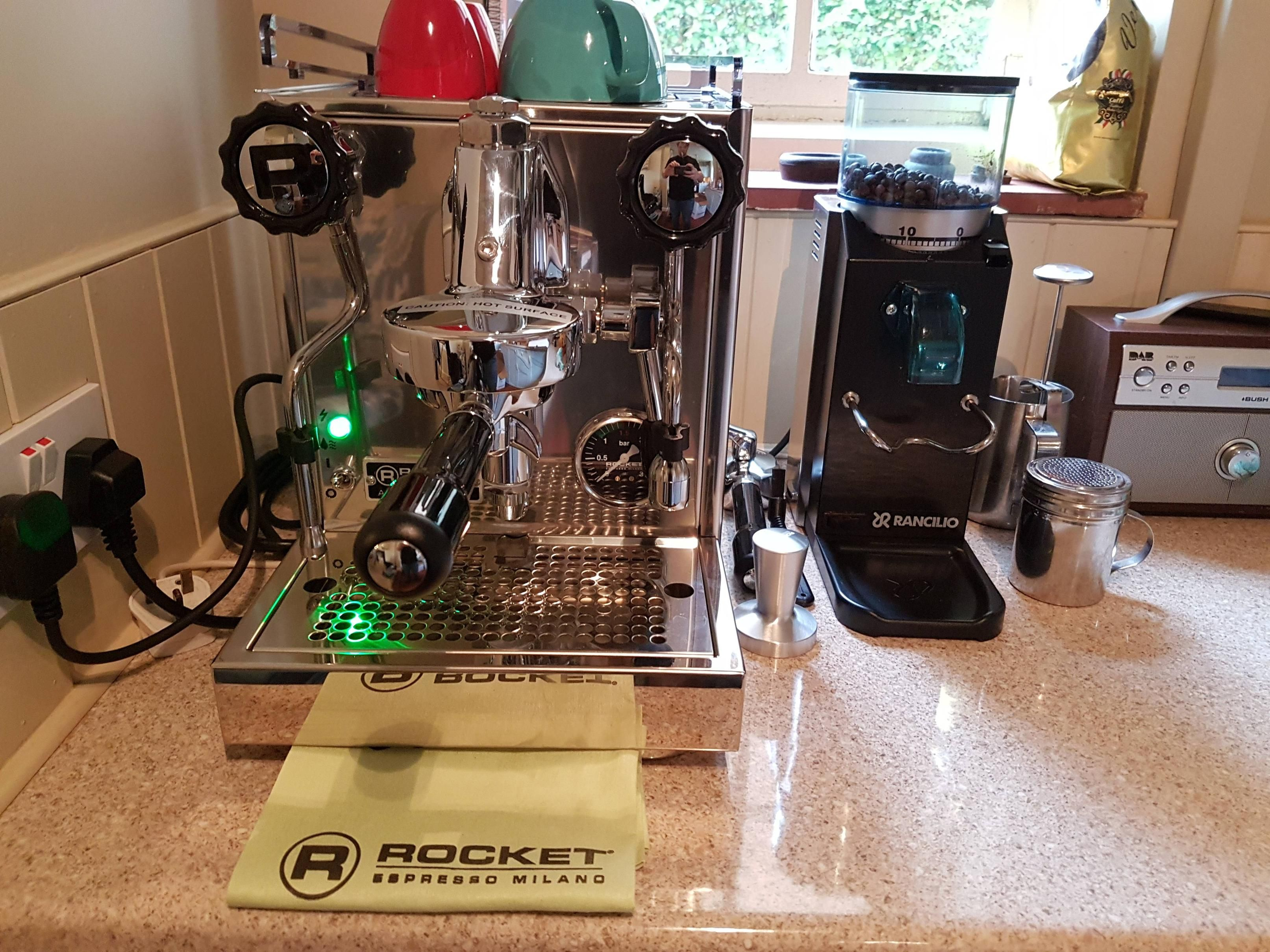 New Set Up At Home Rocket Appartamento And Rancilio Rocky Grinder