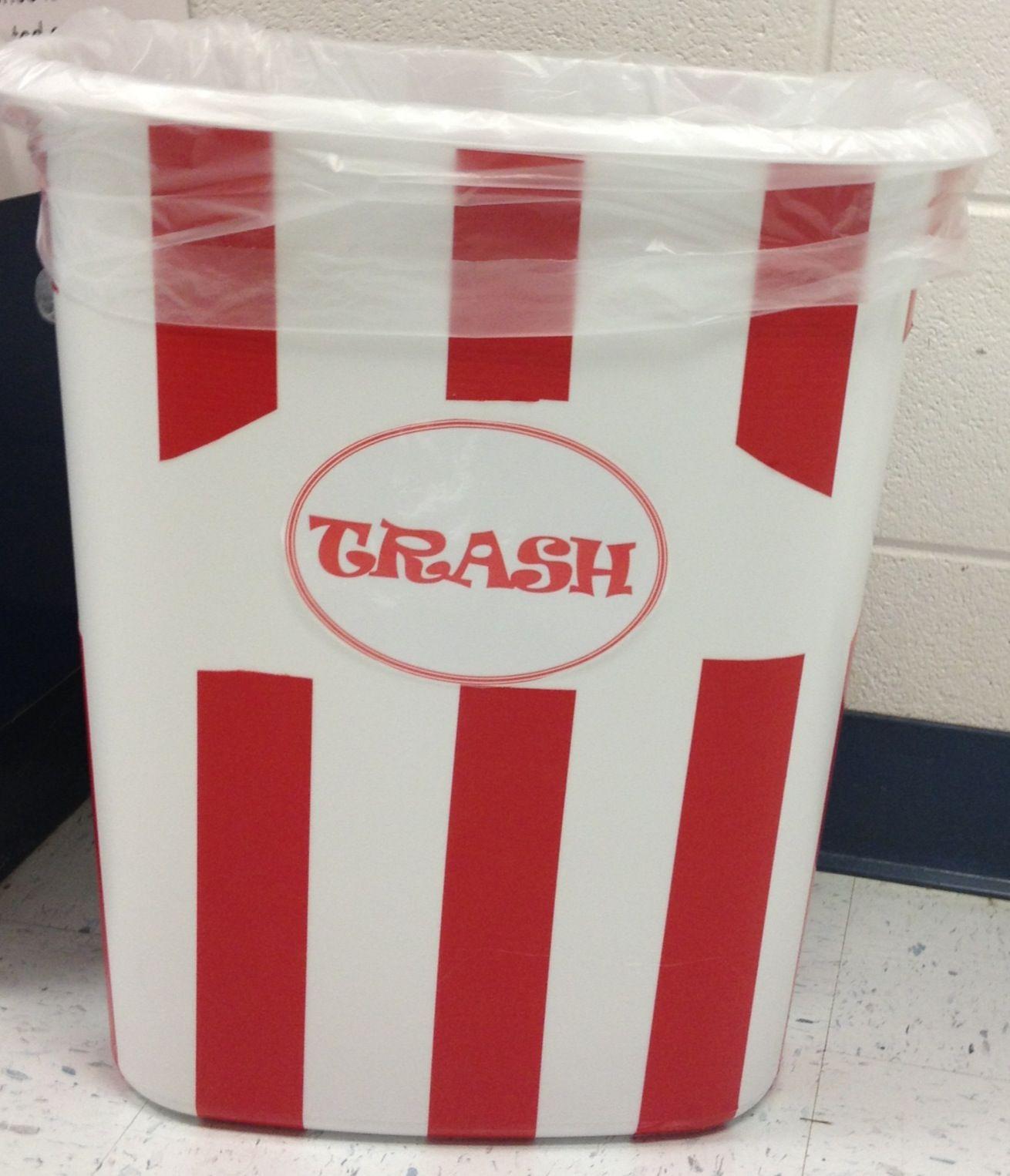 Popcorn Trash Can Movie Theatre Bedroom Pinterest