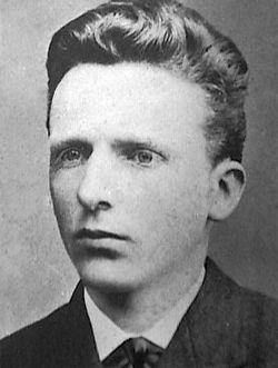 Vincent Van Gogh......he sure looks clean cut at this young age. The years sure took a toll on him.