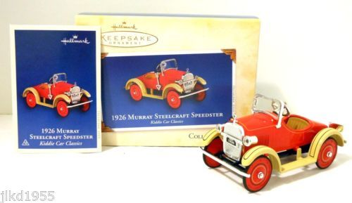 2005 Hallmark 1926 Murray Steelcraft Speedster Pedal Kiddie Car Series Ornament