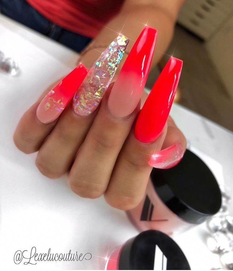 Acrylicnailartdesignsgallery Red Acrylic Nails Long Acrylic Nails Cute Nails