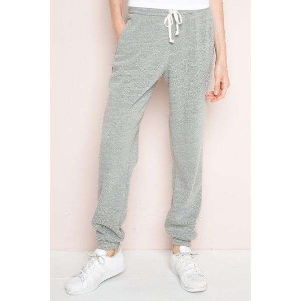 Rosa Sweatpants (47 CAD) ❤ liked on Polyvore featuring activewear, activewear pants, elastic cuff sweatpants, pink sweatpants, pink sweat pants and sweat pants
