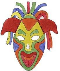 Colorful Paper Masks Art Lesson Plans Art For Kids Art Lessons