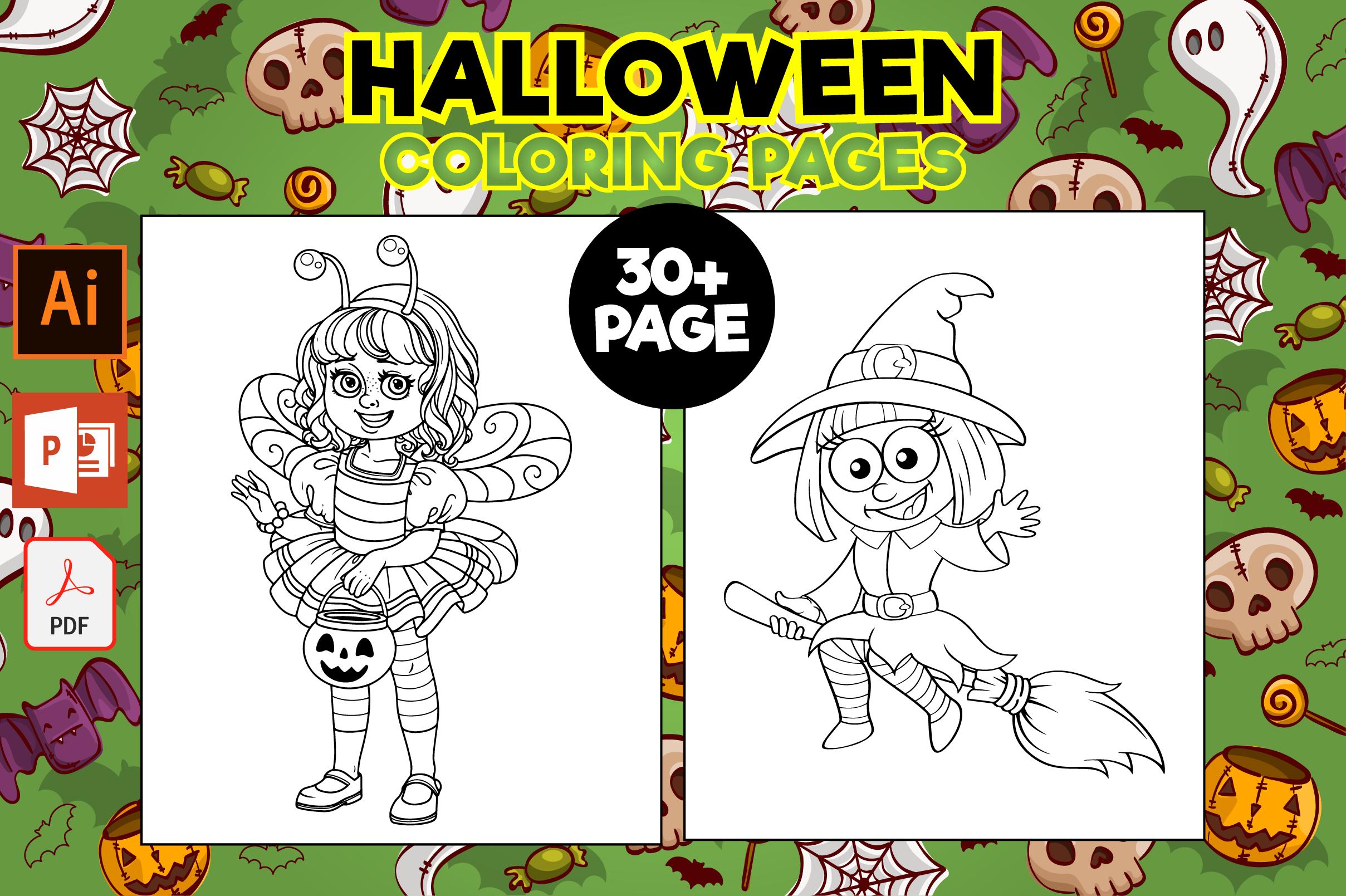 Halloween Coloring Pages Graphic By Mk Designs Creative Fabrica Malvorlagen Halloween