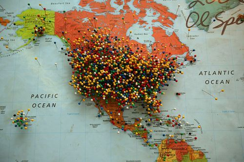 i d like to someday have a map this full of pins oh the places i