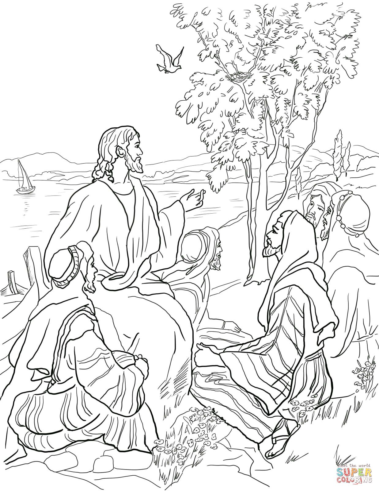 Parable Of Mustard Seed Coloring Page From Jesus Parables Category Select 22052 Printable Crafts Cartoons Nature Animals Bible And Many More