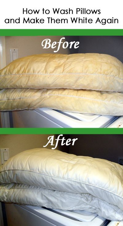 how to wash pillows and make them white again best household tips pinterest nettoyage. Black Bedroom Furniture Sets. Home Design Ideas